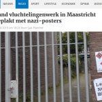 Neonazistische groepering beplakt gevel vluchtelingenorganisatie
